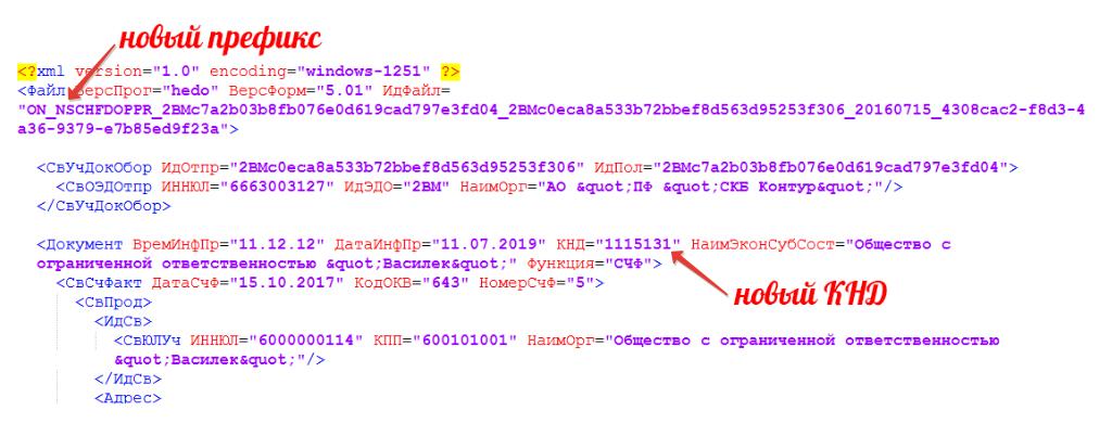 Переход на новые форматы ФНС для электронных документов xml
